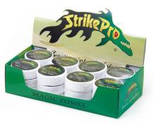 Полотенце с логотипом STRIKE PRO (зеленые и белые)